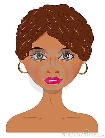 African Woman with Earrings
