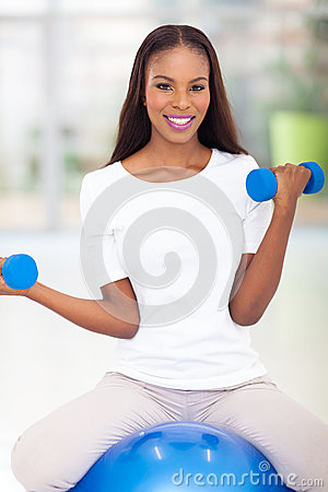 African woman exercising