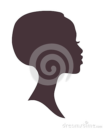african woman face silhouette stock photo image 62063628
