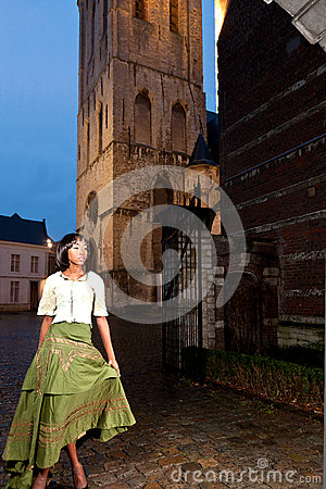 Free African Woman In Victorian Dress Old City Royalty Free Stock Image - 37363666