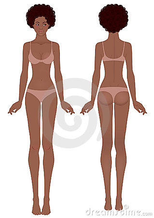 African woman s body template