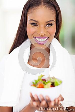 African woman salad