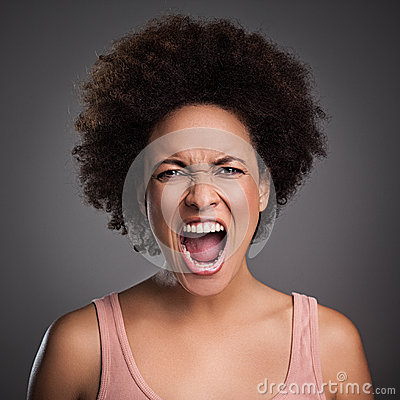 African Woman Shouting