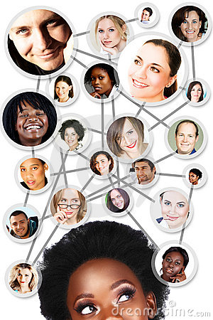 Free African Woman Social Network Diagram Stock Image - 18507401