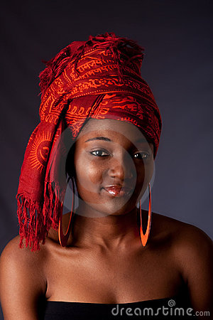 Free African Woman With Headwrap Stock Image - 10477831