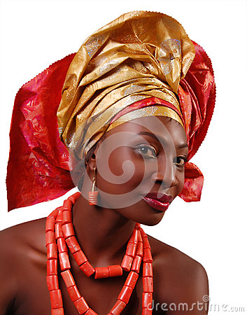 Free AFRICAN WOMAN WITH HEADWRAP Royalty Free Stock Photos - 40894958