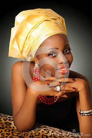 Free AFRICAN WOMAN WITH HEADWRAP Stock Photo - 41052440