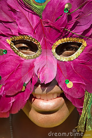Free African Woman With Mask Stock Image - 1119311