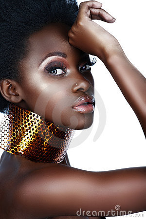 Free African Woman With Necklace Stock Photography - 5623542