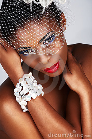 Free African Woman With White Net Royalty Free Stock Photography - 7253657