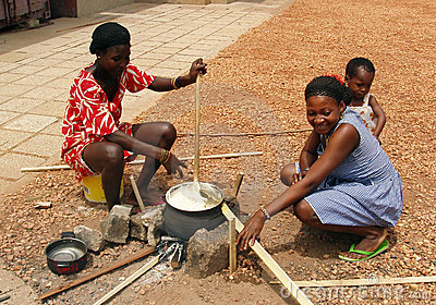 African women cooking Editorial Photo