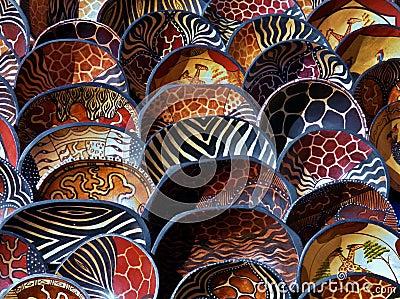 African wooden bowls