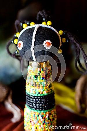 African zulu doll