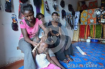 Africna Hair stylist Editorial Stock Photo
