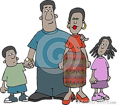 Afrikaanse Amerikaanse Familie