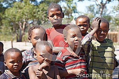 Afrikaanse kinderen Redactionele Afbeelding