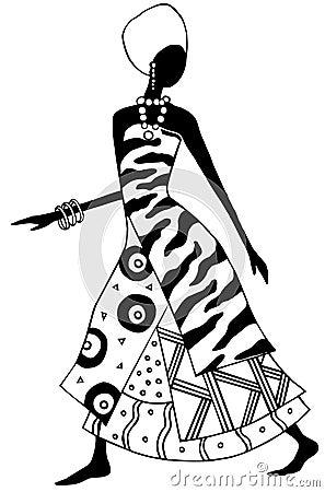 Afrikanische Dame