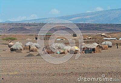 Afrikanische Hütten