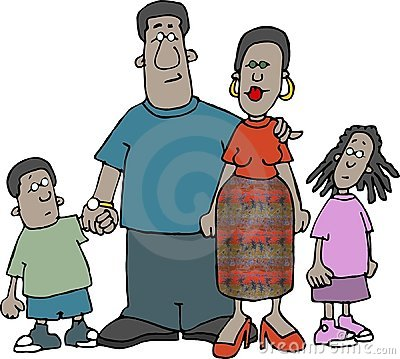 Afrikansk amerikanfamilj