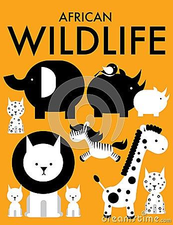 Afrikanska djur /illustration