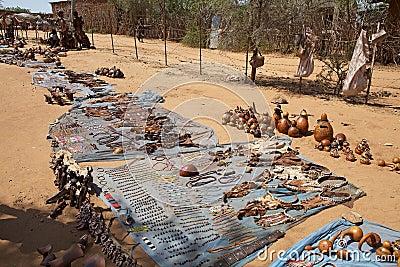 Afrikanskt hantverk Redaktionell Arkivfoto