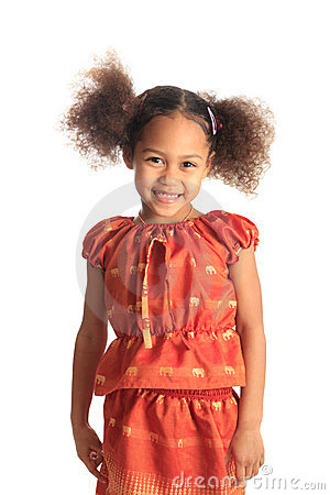 Free Afro American Beautiful Girl Children With Black C Royalty Free Stock Image - 23565796