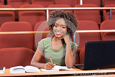 Afro american college student