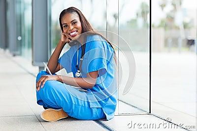 Afro american healthcare worker