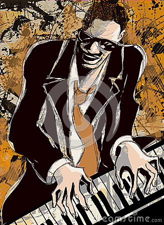 Afro american jazz pianist