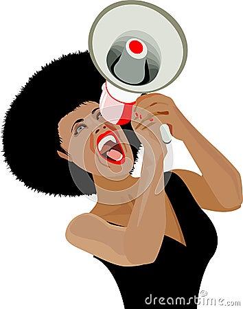 Afro communications speaker shout