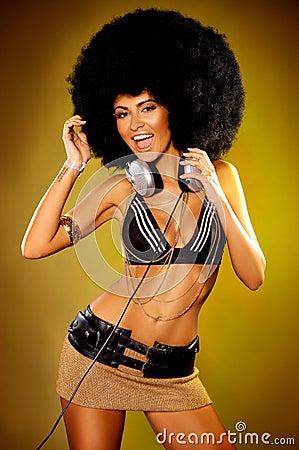 Afro flicka