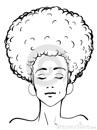 Afro lady clip art