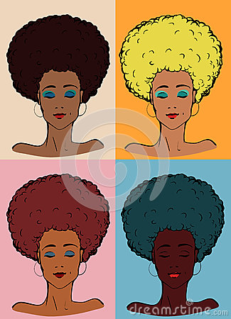 Afro lady color