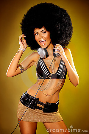 Afro-Mädchen