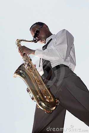 Afroamerikaner-Jazz-Musik-Spieler