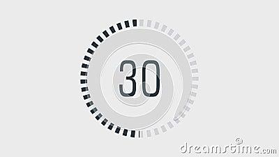 Aftelprocedure één minieme animatie van 60 tot 0 seconden royalty-vrije illustratie