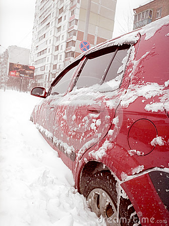 Free After Snowstorm In The City. Stock Images - 34146124