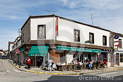 Afternoon in a Smalll French Village Editorial Stock Image
