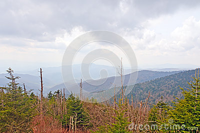 Afternoon storm in the Smoky Mountains