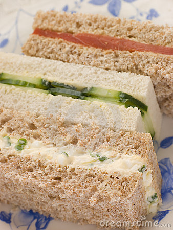 Free Afternoon Tea Finger Sandwiches Stock Photography - 5628142