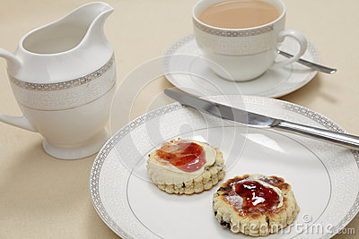 Afternoon tea with Welsh cakes