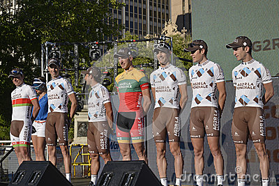 AG2R LA Mondiale Professional Cycling Team Editorial Image