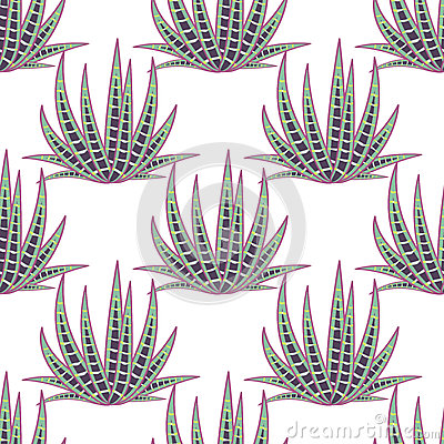 Free Agave Succulent Desert Seamless Pattern. Stock Photo - 71322780