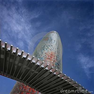 Agbar tower. Barcelona Spain Editorial Image