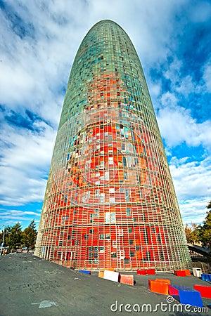 The Agbar Tower, Barcelona, Spain.