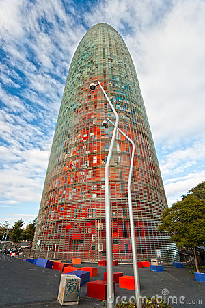 The Agbar Tower, Barcelona, Spain.