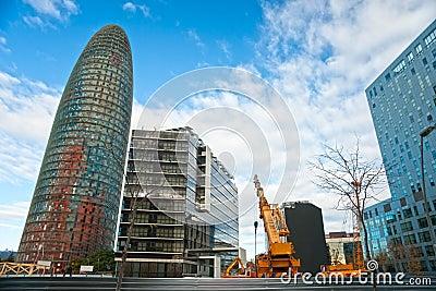 The Agbar Tower, Barcelona, Spain. Editorial Photo