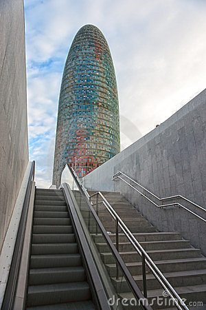 The Agbar Tower, Barcelona, Spain. Editorial Stock Photo