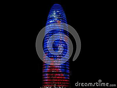 Agbar tower at night