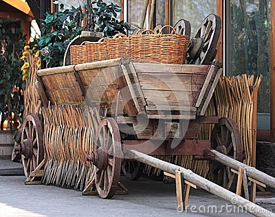 Age-old Russian cart